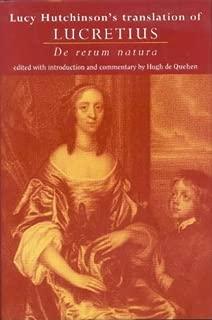 Lucy Hutchinson's Translation of Lucretius: