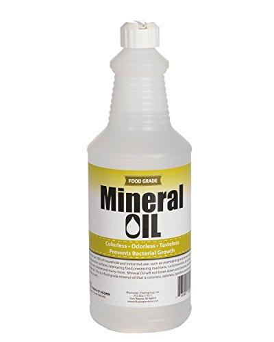 Sanco Industries Prima de 100% Puro de Grado alimenticio Aceite Mineral USP, 1 Cuarto de galón (32 onzas), Bloque de Carnicero y Aceite de Corte Junta Claro