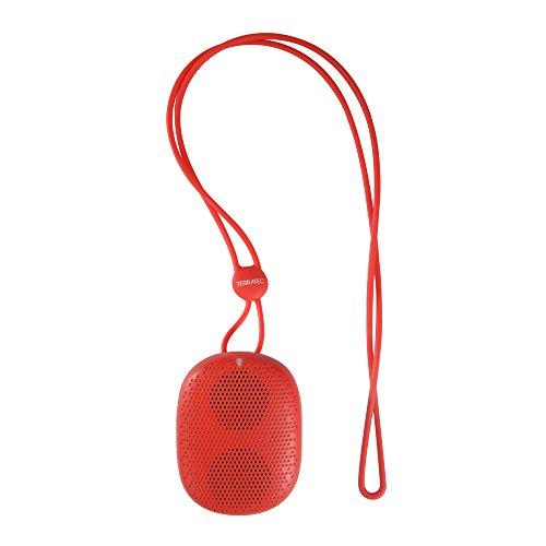 TERRATEC CONCERT BT me!, Portabler Bluetooth Lautsprecher, Micro-SD Slot, Akku für ca. 3 Std., für iPhone, iPad, Samsung Galaxy und weitere Smartphones/Tablets, (Rot)
