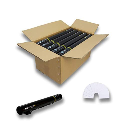 EUTOPICA Pack de 25 cañones eléctricos de Confeti, 50 cm (Blanco)