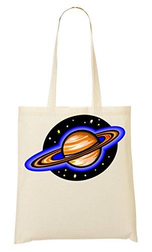 C+P Colourful Saturn Graphic Tragetasche Einkaufstasche