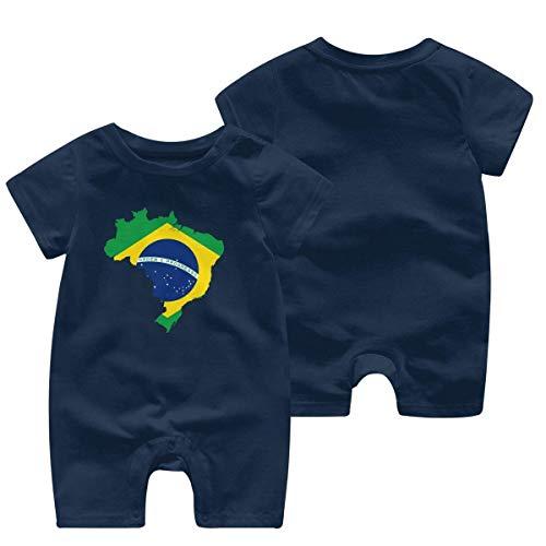 Body para bebé sin Mangas con Bandera de Brasil, Mono de Manga Corta para bebé, Ropa para bebé de 0 a 24 Meses