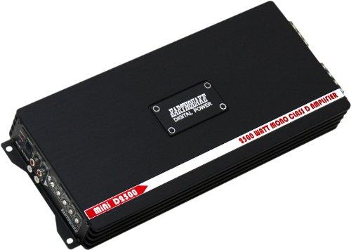 Earthquake Sound MiNi-D2500 Digital Class D 2500W Mono Subwoofer Amplifier, NEW