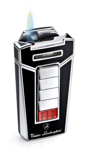 Tonino Lamborghini Torch Flame Feuerzeug, Herren, schwarz