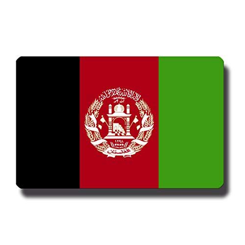 Kühlschrankmagnet Flagge Afghanistan - 85x55 mm - Metall Magnet mit Motiv Länderflagge