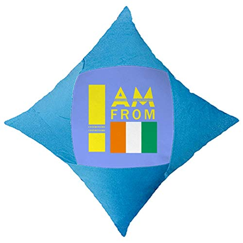 OFFbb-USA I Am from Cote Divoire Wurfkissen, Blau