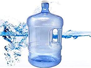 Reusable 5 Gallon Fresh Water Bottle Jug Container, Easy Grip Carry Handle Sports Residential Commercial & Emergency Use - Premium BPA Free
