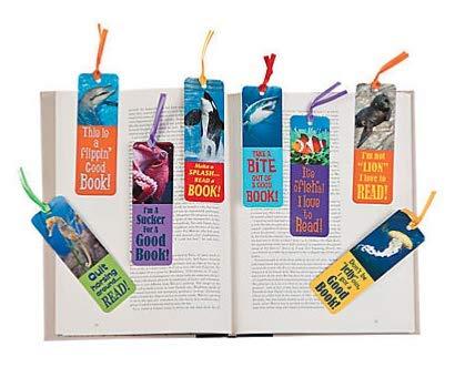Fun Express 48 Realistic Ocean Animals Kids Bookmarks Under Sea Ocean Classroom Home School