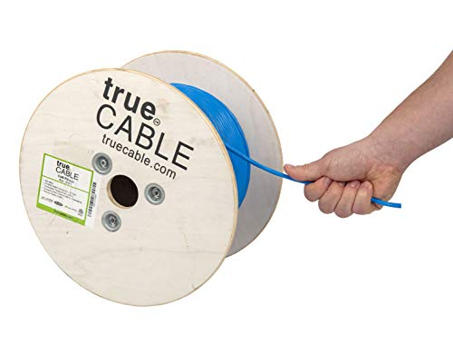 1000ft Gray Bulk Cable ETL Listed 550MHz UTP Cat6 Bulk CMR Unshielded Twisted Pair 23AWG 4 Pair Solid Bare Copper Bulk Ethernet Cable Cable