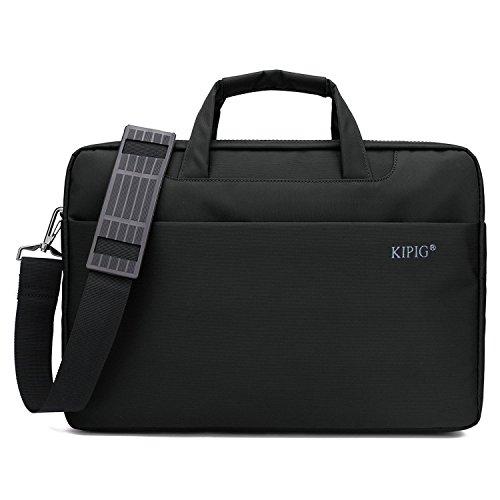 Borsa per PC portatile 15 -15.6 pollici, iNeseon [Impermeabile & Antiurto] Custodia di Neoprene Borsa a Tracolla / Ventiquattrore / per MacBook Pro 15/ MacBook Pro 15.4 Retina/ Laptop / Notebook 15-15,6 pollici *Nero*