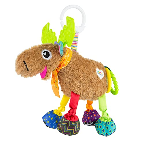 Lamaze Mortimer The Moose, clip on toy, car seat toy, baby toys, lamaze toys, baby activities