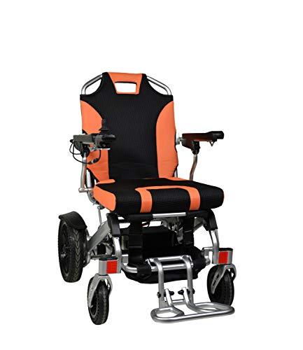 Devita TANAS Elektrische rolstoel, opvouwbaar, voor binnen en buiten oranje