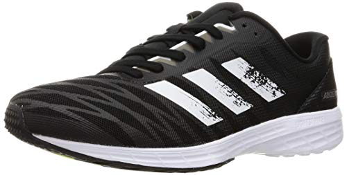 adidas Herren Adizero RC 3 Running Shoe, Core Black/Cloud White/Solar Yellow, 41 1/3 EU