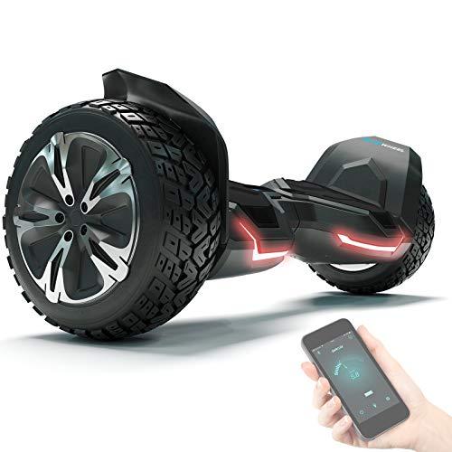 """8.5\"""" Premium Offroad Hoverboard Bluewheel HX510 SUV Deutsche Qualitäts Marke- Kinder Sicherheitsmodus & App - Bluetooth - Starker Dual Motor - Elektro Skateboard Self Balance Scooter (HX510_Black)"""