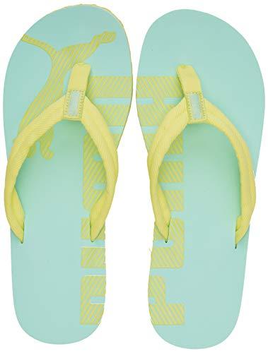 Puma Unisex-Erwachsene Epic Flip V2 Zapatos de playa y piscina, Grün (Sunny Lime-Mist Green), 35.5 EU
