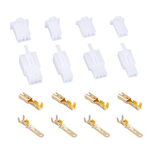 200 piezas Kit de conectores de cables eléctricos automotrices de 2.8 mm, paso de 2.8 mm 2/3/4/6 pines Conector de cable macho/hembra Carcasa Terminal Kit de surtido de enchufe de terminal