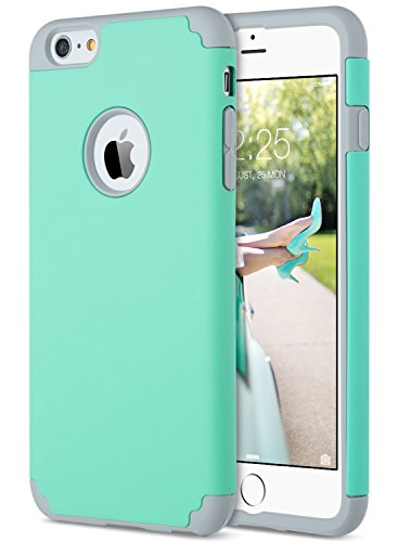 ULAK iPhone 6 Plus Case, iPhone 6S Plus Case, Slim Dual Layer Soft Silicone Hard Back Cover Anti Scratches Bumper Protective Case for Apple iPhone 6 Plus / 6S Plus 5.5 inch (Turquoise) -  ULAK337806