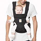 Ergobaby Omni 360 All-Position Baby Carrier for Newborn to Toddler with Lumbar Support (7-45 Pounds), Pure Black