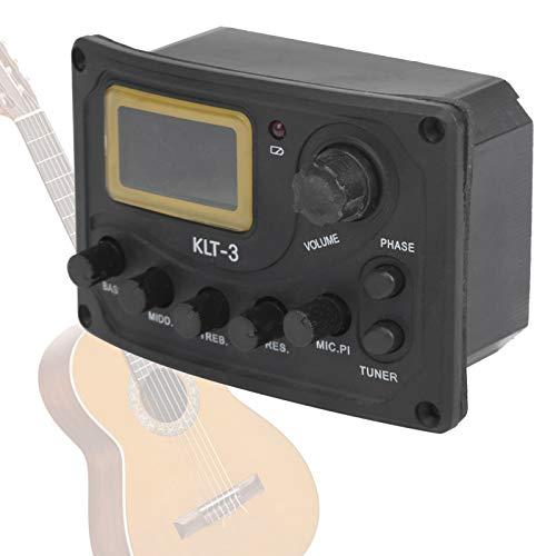 Pastilla de guitarra de 4 bandas, pastilla de guitarra KLT-3, pastilla de afinador de guitarra, mejora el rendimiento, guitarra de metal para afinador de guitarra pastilla de guitarra