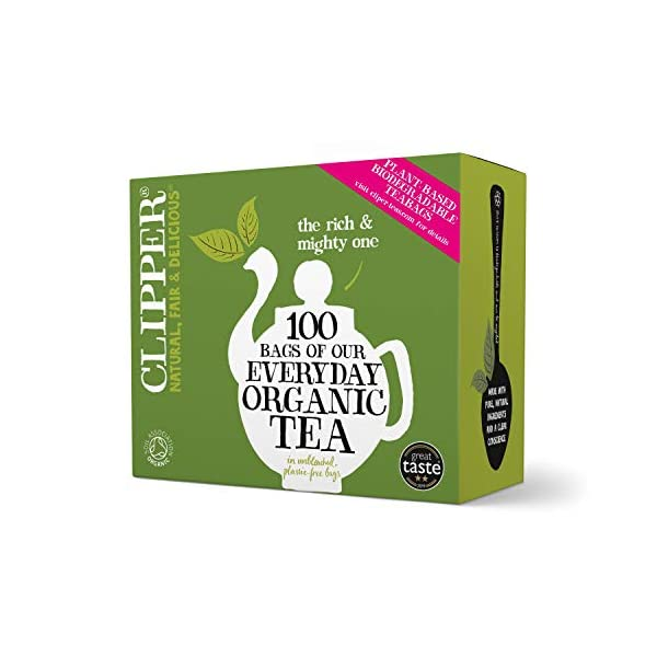Clipper Organic Everyday 100 Teabags (Pack of 6, total 600 Teabags)
