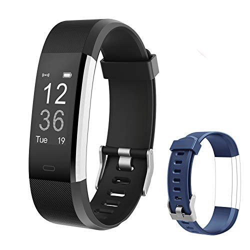 Letsfit Fitness Tracker HR, Activity Tracker Watch with Heart Rate Monitor, IP67 Standard Smart Bracelet with Calorie Counter Pedometer Watch for Android and iOS