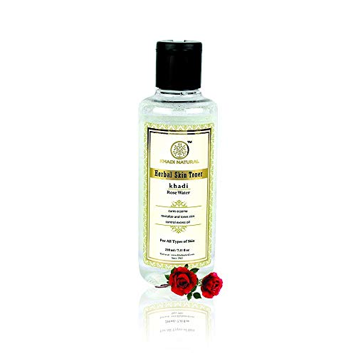 Royal Khadi Natural Skin Toner Pure Rose Water With Moisturiser For Soft Skin 210ml