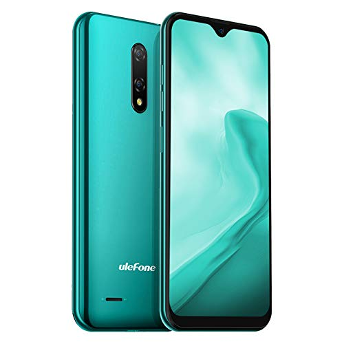 4G Android 10 Teléfono Móvil Libres Ulefone Note 8P, 2GB RAM 16GB ROM (128 GB SD) Smartphone, Pantalla 5.5' HD+ Moviles Baratos, Triple Cámara 8MP+2MP+5MP, Batería 2700 mAh, Dual SIM, Face ID (Verde)