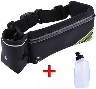 Trail Cintur/ón de Running CLEVER BEES Caminar Senderismo el/ástico Incluye 2 bidones para hidrataci/ón Durante Deporte Porta Botella y Brazalete Cruz