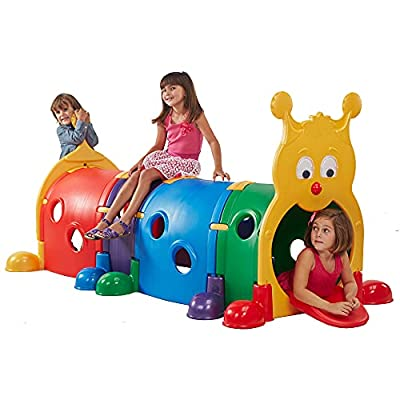 ECR4Kids GUS Climb-N-Crawl Caterpillar Tunnel   Indoor and Outdoor Fun Kids' Play Structure   Expandable with Other Sets, 7 Feet Long   ELR-035 model from ECR4Kids