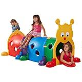 ECR4Kids GUS Climb-N-Crawl Caterpillar Tunnel | Indoor and Outdoor Fun Kids' Play Structure | Expandable with Other Sets, 7 Feet Long | ELR-035 model