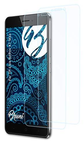 Bruni Schutzfolie kompatibel mit TP-Link Neffos X1 Max Folie, glasklare Bildschirmschutzfolie (2X)