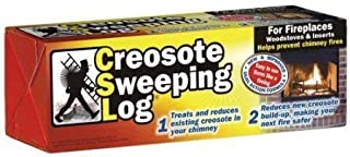 4 Pack CSL Creosote Sweeping Log For Fireplace & Chimney Safety