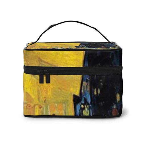 The Cafe Terrace at Night Travel Cosmetic Organizer Portable Artist Storage Bag, Multifunction Toiletry Bags