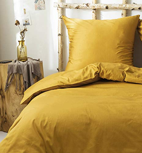 SALAD HOUSE Juego de ropa de cama, funda de edredón suave y funda de almohada de 100% algodón egipcio extra largo (funda de edredón de 200 x 200 cm y 2 fundas de almohada de 80 x 80 cm)