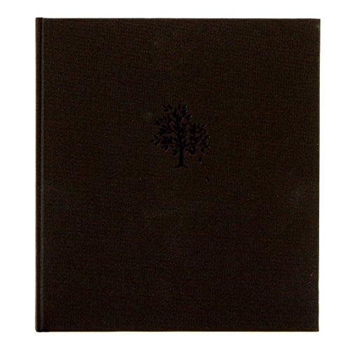 Libro de condolencias Árbol, 24.8x 22.8cm, 72páginas Papel Crema en blanco, color negro