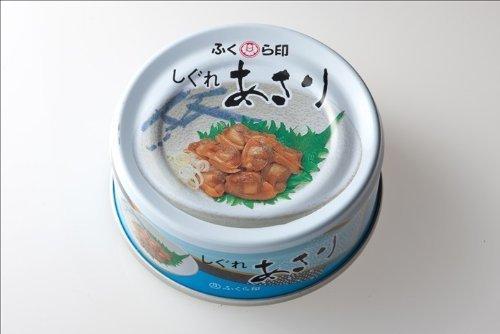ふくら印 しぐれあさり 缶詰40g SP缶