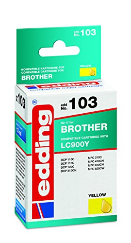 edding 18-103 Druckerpatrone EDD-103, Ersetzt: Brother LC900Y, Einzelpatrone, gelb