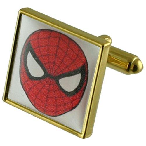 Film Spiderman-Held gold Manschettenknöpfe Wählen Sie Geschenke Beutel
