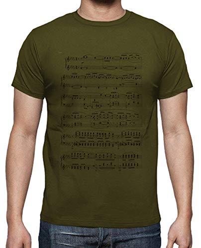 tostadora - Mnner - T-Shirt Weier Mann Punktzahl Armeegrün L