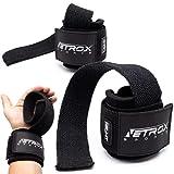 NetroxSports® - Lifting Straps | Professionelle Zughilfen mit Handgelenkbandage | Für Bodybuilding, Gewichteheben, Kraftsport, Krafttraining & Fitness | Geeignet für schwere Gewichte | Herren & Damen