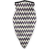 Bufanda deportiva a prueba de viento Horizontal, estrecha, afilada, en zigzag, clásica, simplista con efectos retro, bufanda para exteriores, cara, cuello, polaina, cara, bufanda, bandana, bufanda