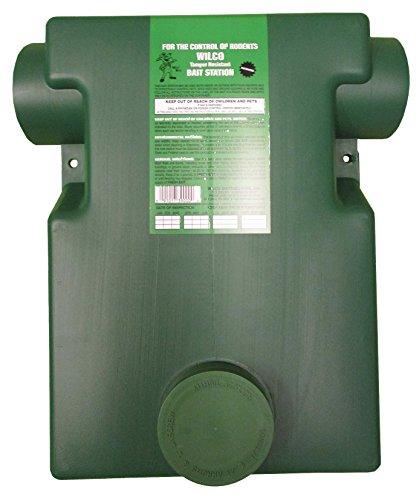 Wilco Distributors 39000 Dark Green Plastic Ground Squirrel Bait Station