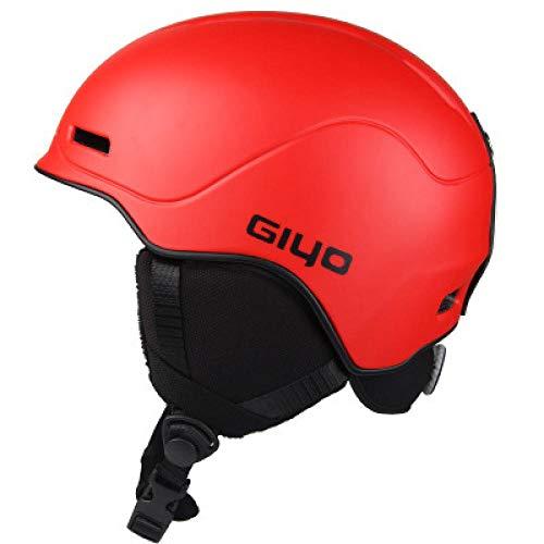 Ultralight Casque Adulte,Equipement de ski professionnel pour hommes et femmes, casque de ski chaud et respirant, protecteur de casque en placage adulte - rouge,Montagne Route Vélo Casque Adulte