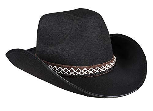 Boland 54369 Kinderhut Cowboy, Schwarz