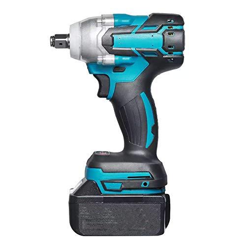 Llave de impacto eléctrico sin escobillas de 20V, 520n.m recargable 1/2 socket inalámbrico destornillador herramientas eléctricas