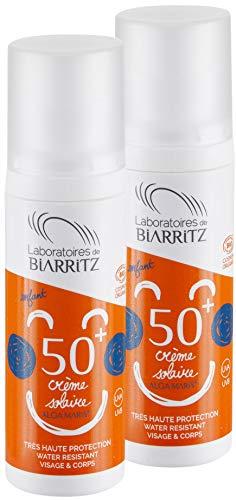 2er Pack Alga Maris Sonnencreme für Kinder LSF50 100ml | BIO zertifizierte Naturkosmetik von Laboratoires de Biarritz | für Baby- und Kinderhaut | mit Sofortschutz und ohne Weißeleffekt