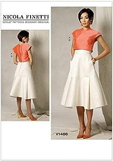 Vogue Ladies Sewing Pattern 1486 Crop Top & Flared Yoke Skirt