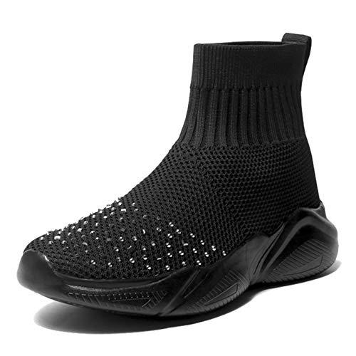 Zapatos Deportivos de Malla Transpirable Ligeros Calcetines Zapatillas de Deporte al Aire Libre Informales Antideslizantes para Caminar para Correr para Correr