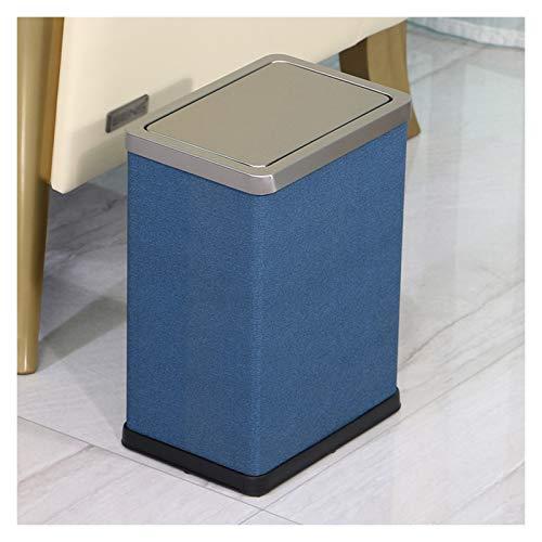 bote de basura cocina Papelera cuadrada Shake tapa del bote de basura creativo Grandes contenedores de Bin hogar acero inoxidable puede for Office dormitorio armario del baño bote de basura del baño