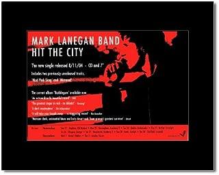 Music Ad World Mark LANEGAN - Hit The City Mini Poster - 21x13.5cm